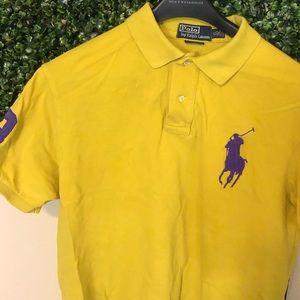 Purple and yellow Ralph Lauren polo shirt